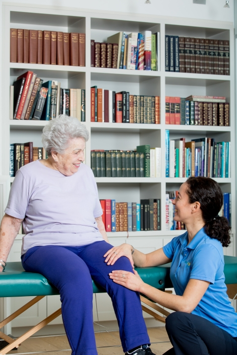 Kim, Empowering Lives as an in-home physiotherapist.